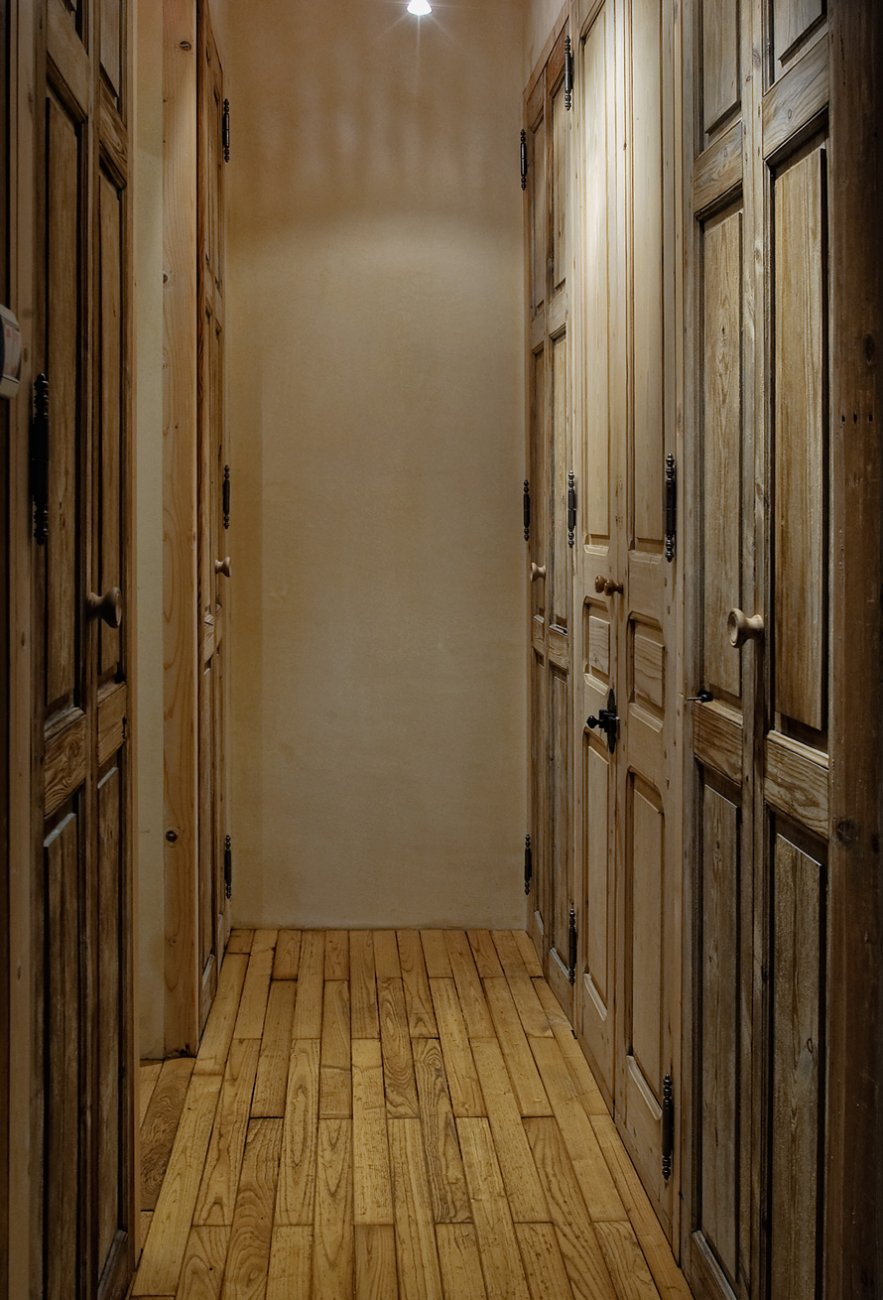 La maison bleu: Etage 1 - Couloir - Logis du Bourg